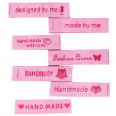 DIY 7 Aufnäher rosa pink Spruch Motive