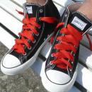 Großhandel Schuhzubehör: Rote Uni Farbene Schnürsenkel