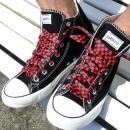 Großhandel Schuhzubehör: Schwarz Rot Karierte Schnürsenkel