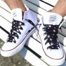 Großhandel Schuhzubehör:Pinke Stern Schnürsenkel