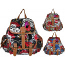 CB151 Varnished Backpack Skull School Backpacks