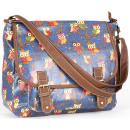 Großhandel Handtaschen: CB169 Eulen Glitter Lackierte HIT Handtasche
