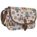 A5 NEW 168 Damen Handtasche, Eulen Damen Handtasch