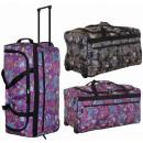 Großhandel Reise- und Sporttaschen: Koffer - TB03 Blumen Reisetasche