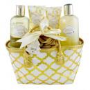 Großhandel Handtaschen: Glanz! Tasche Funkelndes Bath Bliss - Blumen Blanc