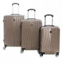 wholesale Suitcases & Trolleys: Suitcase Set of 3 Unisex SWEENY CHAMPAGNE 011 SET