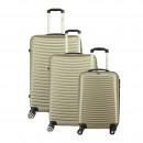 Großhandel Koffer & Trolleys: Kofferset mit 3 Unisex SLIDER CHAMPAGNE 011