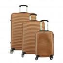 wholesale Suitcases & Trolleys: Suitcase Set of 3 Unisex SLIDER GOLD 011
