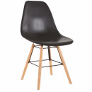 wholesale Table Linen: Unisex Chairs SCANDINAVE CHAIR BLACK NEW 015