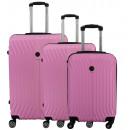 Großhandel Koffer & Trolleys: Kofferset mit 3 Unisex SPARK FLASH PINK 011