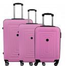 Großhandel Koffer & Trolleys: Kofferset mit 3 Unisex SHINY FLASH PINK 011