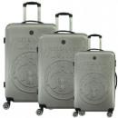 wholesale Suitcases & Trolleys: Suitcase Set of 3 Unisex STANISLAS SILVER 011 SET