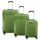 wholesale Suitcases & Trolleys: Suitcase Set of 3 Unisex SPICY DARK KAKI 011