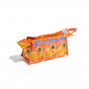 Orange recycling cosmetic bag with zip