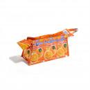 Orangfarbene Recycling Kosmetik Tasche mit Reißver