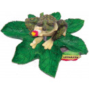 Deco Rasta frog hemp leaf ashtray