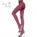 Pink black striped tights