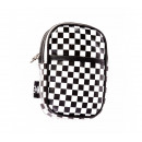 Checkered make-up bag