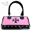 Cyber handbag with cross