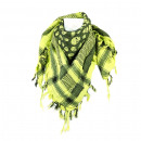 Apple green pali fringed scarf made of cotton