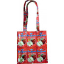wholesale Artificial Flowers: Recycled fruit juice apple shopping bag in red