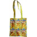 Yellow recycled fruit juice shopping bag