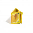 Fruit juice purse made from recycled material