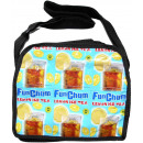 Ice tea recycling capes messenger bag in Abge