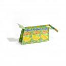 Recycling fair trade cosmetic bag green lemon