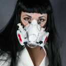 wholesale Coats & Jackets: Steampunk Cyberpunk nurse mask with tube