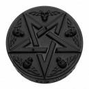 Świeca okultystyczna czarna pentagramowa czaszka