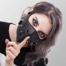 Kunstleer mondmasker biker