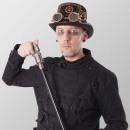 Laska steampunk pistolet laska czarny