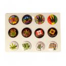 ingrosso Giochi di società: Bottoni Foglia Di Marijuana Misti