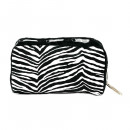 wholesale Travel Accessories: Make up bag in zebra fur look