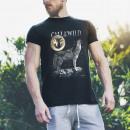wholesale Shirts & Tops: Wild Motif Shirt Black Howling Wolf M