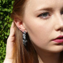 Summer hoop earrings with a nautical star
