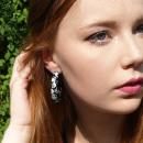 Summery skull hoop earrings