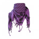 Ladies Palestinian scarf in purple black optics