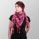 Palestina ladies scarf in black and pink color wea