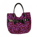 Women's handbag in leopard skin look