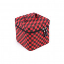 Checkerboard make up bag with inside mirror