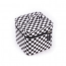 wholesale Travel Accessories: Checkerboard cosmetic bag with inside mirror