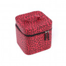 wholesale Travel Accessories: Leopard cosmetic handbag with inside mirror