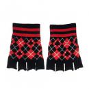 Großhandel Handschuhe: Pik Handschuhe im Rauten Design ohne Finger