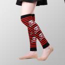 Großhandel Strümpfe & Socken: Gestreifte Totenkopf Beinwärmer