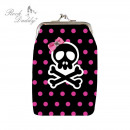 Skull dots coin purse
