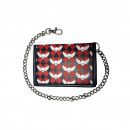 wholesale Wallets: Black red checkered flying Skulls Wallet mi