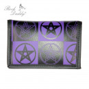 wholesale Wallets: Pentagram Ocult Print wallet in black purple