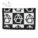 wholesale Wallets: Anarchy Design Print wallet in diamond design